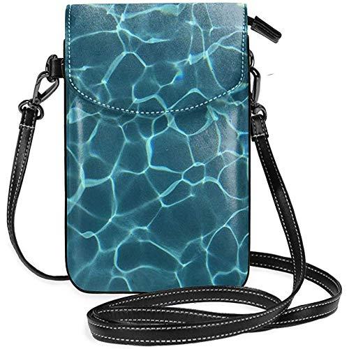 Handy Geldbörse Brieftasche - Frauen kleinen Pool Wasser Tumblr Textur Umhängetasche Handtasche
