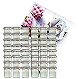 Набор бокалов MamboCat 48er 350 мл баночка с джемом, баночка с банкой и серебряной крышкой 82, включая буклет с рецептурой алмазного сахара