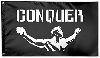 Conquer Pose Gym Lifting Garden Flag 3x5 FT For Indoor Or Outdoor Holiday Decorative Banner