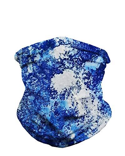iHeartRaves Blue Skies Multi-Functional Seamless Face Mask Bandana (Blue)