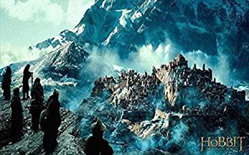 WOMGD® Hobbit Desonlation Lotr Lord Rings Legpuzzels 1000 Stuks, Houten puzzels, Moeilijkheid Educatief Spel Intelligentie Leren Onderwijs Speelgoed