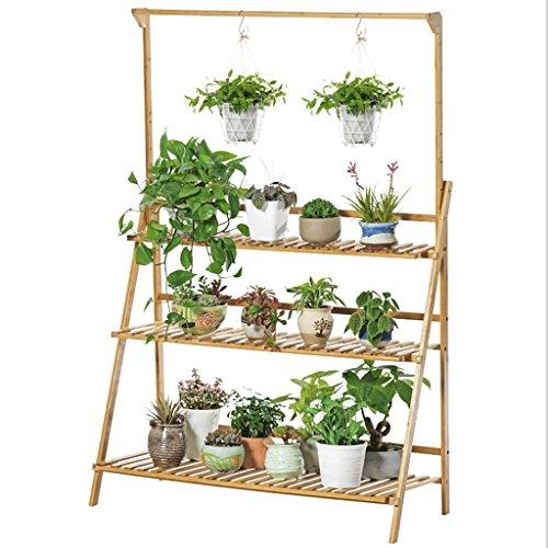 Cristina - Soporte para Flores de Madera Maciza para Colgar en la Sala de Estar, para Colgar en el Suelo, balcón, Cesta de Carne, macetero Simple para Plantas