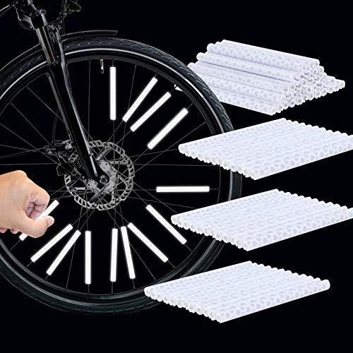 GUBOOM Speichenreflektoren Fahrrad, 36 Stück Fahrrad Reflektoren für speichen, speichen Reflektor Sticks, fahrradreflektoren speichen, Reflektor speichen, speichenreflektoren weiß