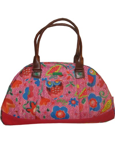 Oilily Funky Flowers Bowling Bag Pink