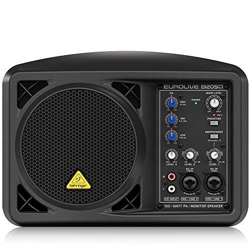 Behringer B205D Eurolive Monitor Lautsprechersystem (150 Watt), schwarz