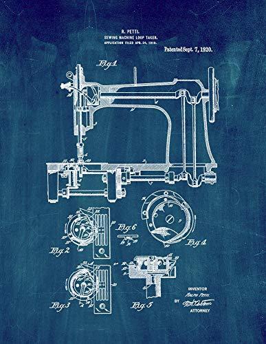 M14974 - Máquina de coser (28 x 35,5 cm), color azul