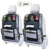 Arkmiido Auto Rückenlehnenschutz(2 Stück), Auto Rücksitz-Organizer Kick-Matten-Schutz für Kinder,Autositz-Schoner Utensilientasche