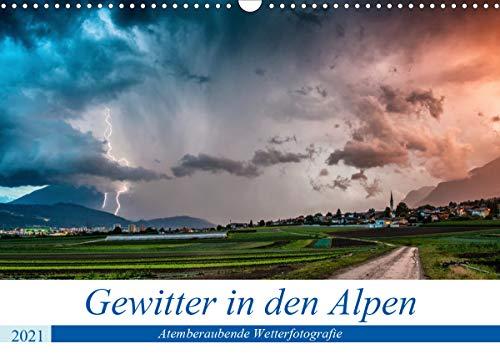 Gewitter in den AlpenAT-Version (Wandkalender 2021 DIN A3 quer)