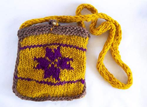 sac de laine avec fermeture éclair Jaune et Violet. envoi gratuit 72h