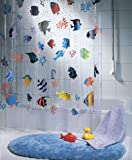 Spirella Fish Multicolor 10.21960 Tenda per Doccia in Vinile 180x200 cm