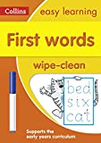 First Words Age 3-5 Wipe Clean Activity Book: Reception English Home Learning and School Resources from the Publisher of Revision Practice Guides, ... Activities. (Collins Easy Learning Preschool)