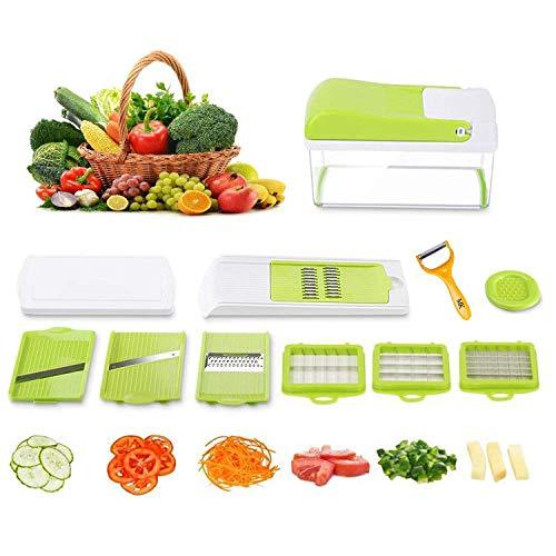 Mandolina 10 en 1 Alimentos Slicer Chopper, Contenedor, All in One cortador de verduras – Vegetales…