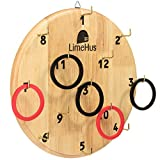 LimeHus Games Magnetic Hook and Ring Toss Game - Sticks to Metal Surfaces Like Tailgate or Hangs on Wall - Replaces Darts for Safe Active Play Indoor or Outdoor for Adults and Kids - Multiplayer