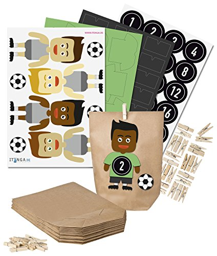 DIY Calendario de Adviento de Fútbol hacer su fútbol? ?Calendario de adviento para llenarte tú mismo?????? ?Camisa Verde Pantalones Cortos Negro