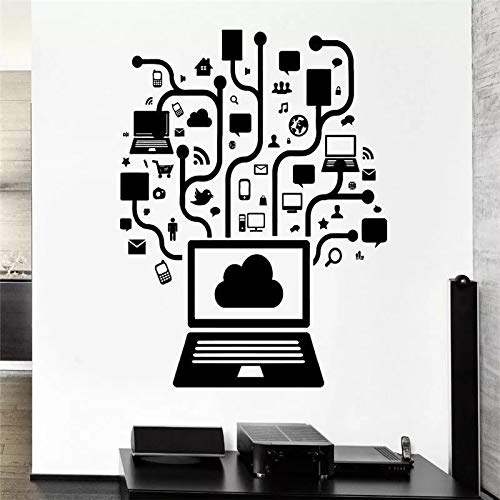 WERWN Hogar Creativo del Papel Pintado Mural del Vinilo de la Pared de la Oficina de la computadora