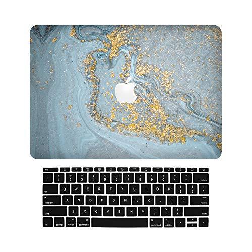 JK-2 Laptops Carcasas Funda para Macbook 12 Inch,Blue Marble Design Style Hard Plastic Protection Shell Funda Carcasa with Keyboard Covers Compatible MacBook 12