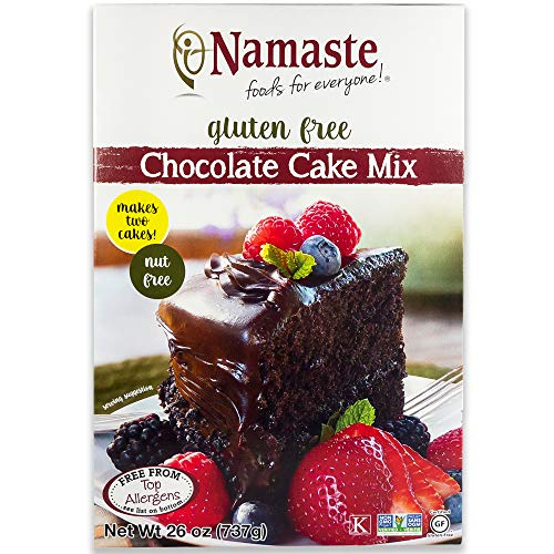 Namaste Foods, Gluten-Free Chocolate Cake Mix, 26-Ounce Boxes (Pack of 6) – Allergen-Free