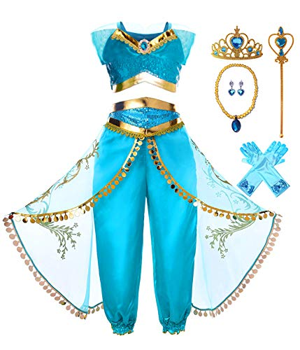 KuKiee Girls Princess Costume Halloween...