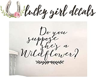 Do you suppose she's a wildflower wall sticker decal Alice in Wonderland Inspired