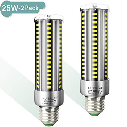 Preisvergleich Produktbild E27 LED 25W Kaltweiß Superhelle Led E27 Mais Birne 6000K 3000LM Entspricht Glühbirnen 250W,  Edison Schraube E27 Led Birnen E27 Maiskolben Led Lampe E27 Energiesparlampe Nicht Dimmbar,  2er-Pack