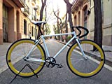 Mowheel Fahrrad Monomarcha Pista Fixie-B klassisch T-58 cm gelb