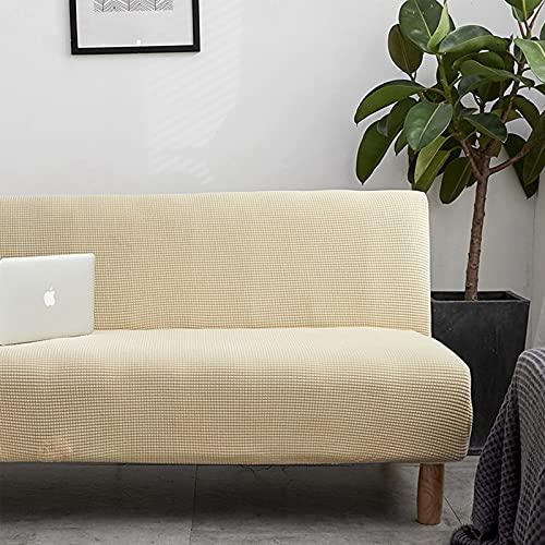 XQWZM Sin Apoyabrazos Sofá Slipcover,Settee Folding Cubierta De Futón Cubierta del Sofá,Elasticidad Lavable Premium Protector De Sofá,Couch Slipcover-