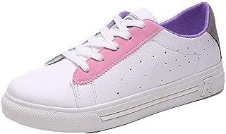 VogueZone009 Women's Pu Round-Toe Low-Heels Lace-Up Assorted Color Pumps-Shoes,CCADO015652