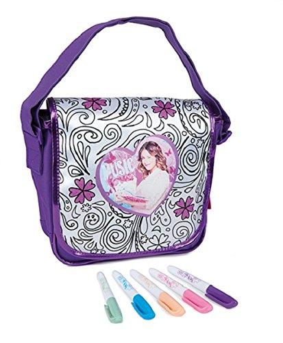 Smoby 86080 Freizeit Color Me Mine Messenger Bag, Umhängetasche, Violetta, zum Ausmalen