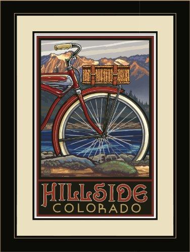 Northwest Art Mall PAL-0424 LFGDM FTB Hillside Colorado Fat Tire Bike, gerahmt,...