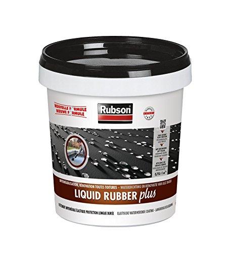 Rubson 2124461 Liquid Rubber Plus -Etanchéité des Toitures Plates et Inclinées, Noir