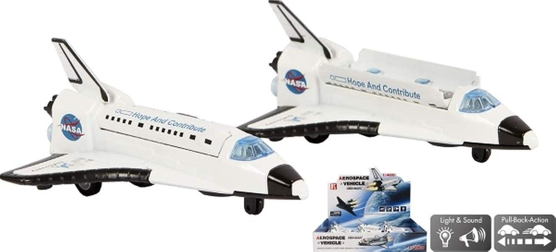 Unbekannt Space Shuttle DieCast Pullback Antrieb Licht und Sound, 9 Stück
