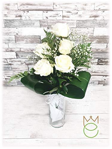 Mazzo di Rose Bianche Vere Fiori Freschi Diverse Quantità (5)