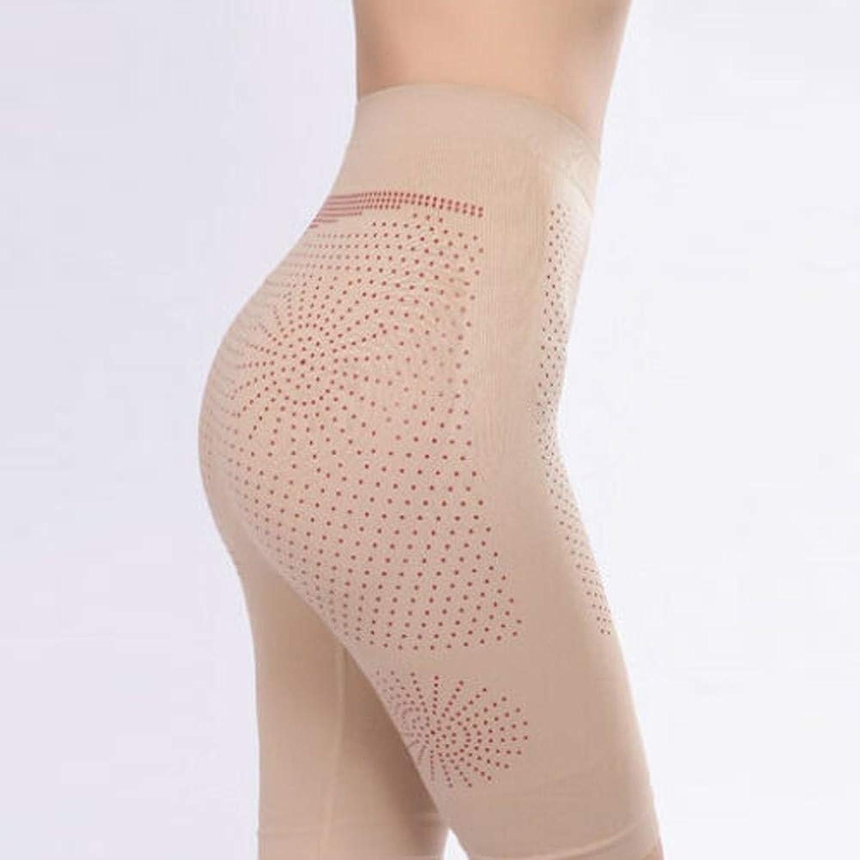 OSMNICE スリミングパンツ ストレッチコントロールパンツ 脂肪燃焼レギンス ハイウエストシェイプ 調剤腹部ボクサー 下着 産後 回復 タイツ 腰型 ズボン (ベージュ)