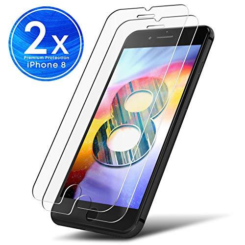 UTECTION 2X Schutzglas Folie für Apple iPhone 8 - Schutzfolie aus Glas gegen Displayschäden - Passgenaue Schutzglasfolie Anti Kratzer - Displayschutzfolie Clear Durchsichtig