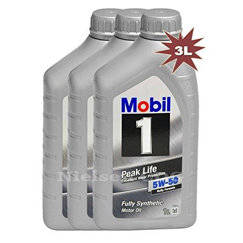 Mobil 1 Peak Life 5W-50 Rally Formula, olio motore, 3 L