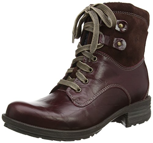 Josef Seibel Damen Sandra 14 Combat Boots, Rot (647 Wine), 36 EU