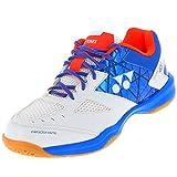 Yonex Power Cushion 48 - Chaussures de badminton pour homme, Hommes, blanc/bleu, 9 UK