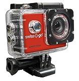 CAMARA VIDEO SWISS-GO DEPORTIVA SG-1.0 FULL HD + ACCESORIOS NEGRA