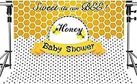写真撮影のためのHDベビーシャワーの背景黄白黒色甘い組み合わせの背景蜂のように甘いパーティーの背景装飾小道具7x5ftHXMT176