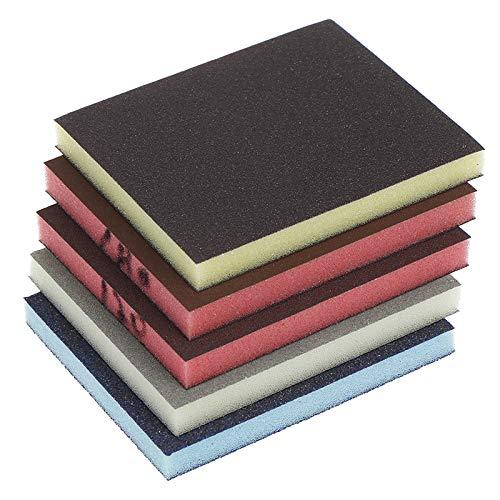 ZLDDE Papel de Lija 2 unids/Lote Pulido de Lijado Block Block Almohadilla de Lija Surtido Herramienta abrasiva 120-1000 Color Aleatorio para automoción y carpintería (Color : A2 240 320grit)