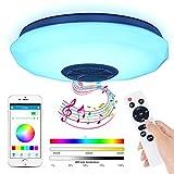 Lámpara De Techo Led Con Altavoz Bluetooth, 36W Moderna Luz De Dormitorio Integrada En El Techo,...