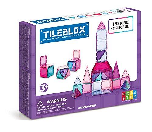 Tileblox Inspire (42 Piece) Set Magnetic Building Blocks, Educational Magnetic Tiles Kit , Magnetic Construction STEM Toy Set