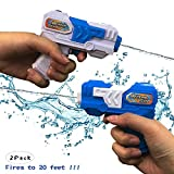Water Guns for Kids Adults - 2 Pack Pocket Size Water Blaster Pistol & Squirt Guns Toy - Summer Swimming Pool Beach Sand...