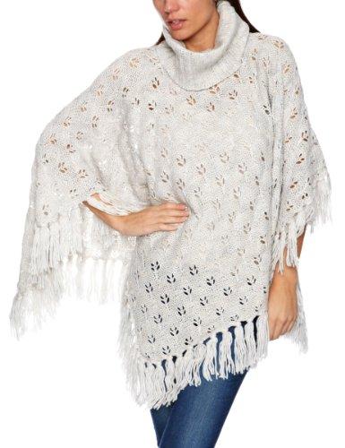 Quiksilver Frauen logcabin Poncho Damen Pullover Einheitsgröße Deep Heath Grey