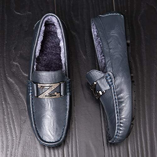LOVDRAM Chaussures en Cuir pour Hommes Nouvelles Nouvelles Nouvelles Chaussures pour Hommes Tendance Wild Korean Warm Peas Chaussures Mode pour Hommes Jeunes Chaussures Décontractées Chaussures De Marche Paresseux 4fd