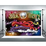 70's Soul Train Backdrop 70's and 80's Disco Dancing Party Neon Glow Background 7x5ft Photo Booth Studio Props ZYVV0895
