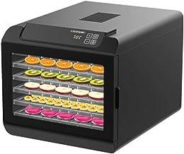 Máquina de conservación de alimentos para el hogar Deshidratador de alimentos, eléctrico Pantalla táctil inteligente Silencio 6 capas Plato de cristal plástico Deshidratador de alimentos seco comercia