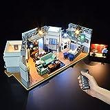 CALEN Juego de luces LED para Lego 21328 Ideas Seinfeld Modelo de bloques de construcción, iluminación suave, compatible con Lego 21328 (LED incluido solamente)
