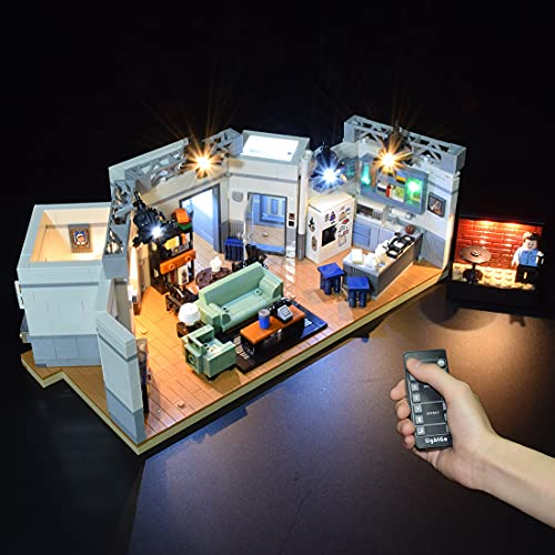 WWEI Juego de iluminación LED con mando a distancia, compatible con Lego 21328 Ideas Sieinfeld de bloques de construcción, modelo sin juego Lego