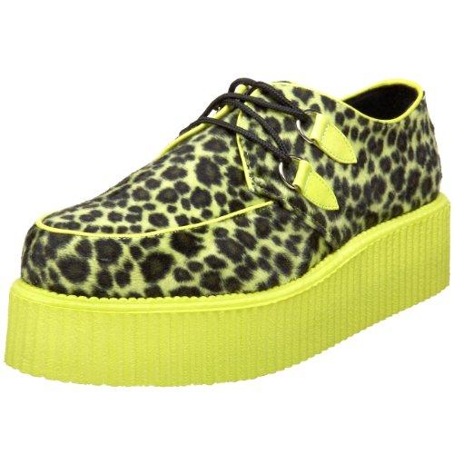 Demonia V-CREEPER-507UV Cheetah Fur-UV Lime UK 4 (EU 37)